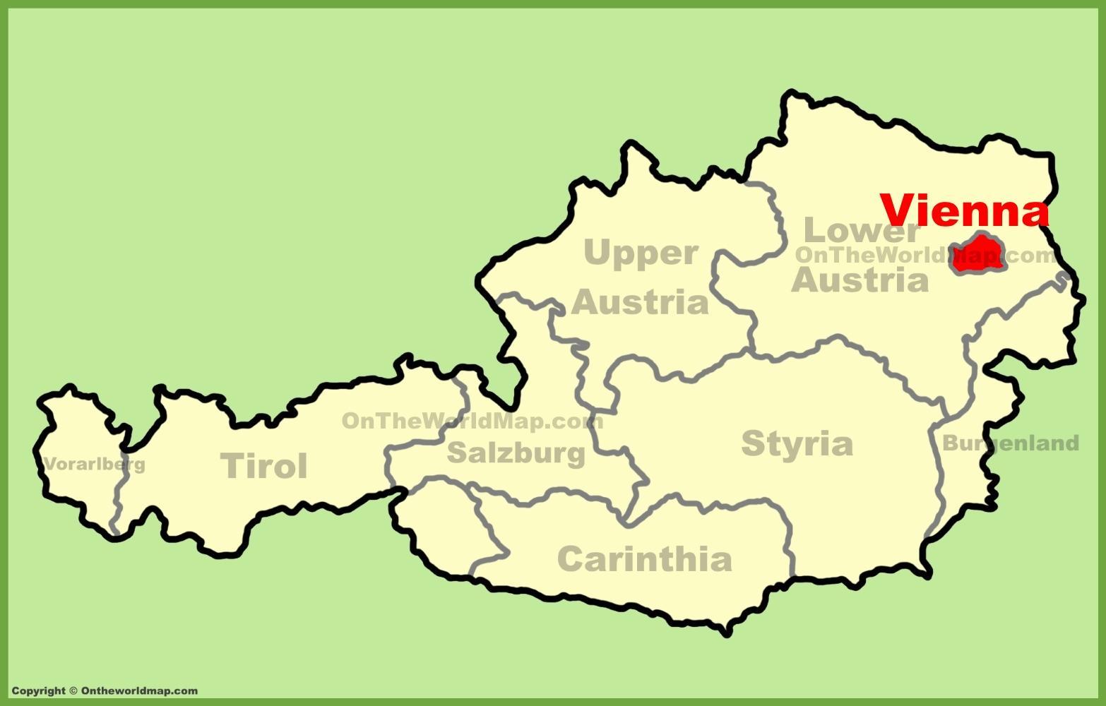Bec Austrija Karta Je Karta Austrije Austrija