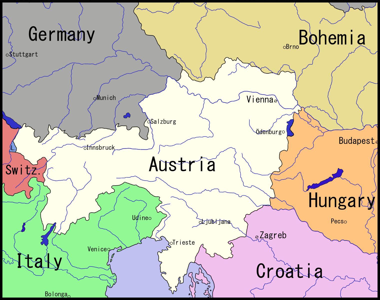 Karta Beca Austrija I Okolica Karta Beca I Okolice Austrija